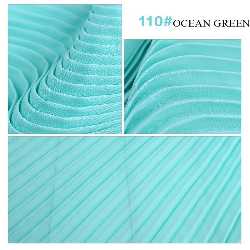 Plissée En Mousseline de Soie Tissu 100D Polyester Fil 150 cm Largeur Solide Teints Draperie Pour Robe Jupe Manteau