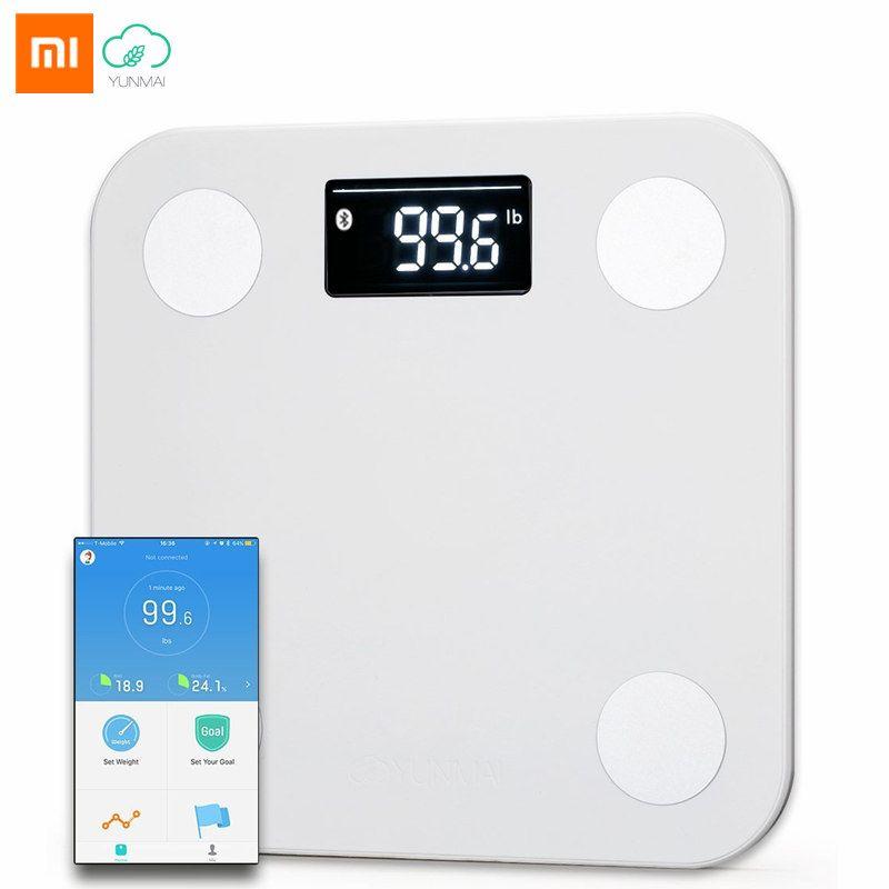 Original Xiaomi YUNMAI Mini Smart Weight <font><b>Scale</b></font> APP 10 Body Date Health Body Fat <font><b>Scales</b></font> Household Electronic Bariatric Weighing