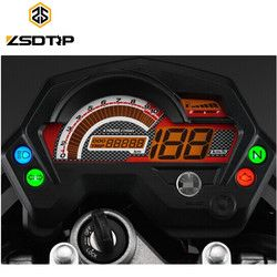 Free shipping ZSDTRP Motorcycle digital speedometer meter used for Yamaha FZ 16 FZ16 motor