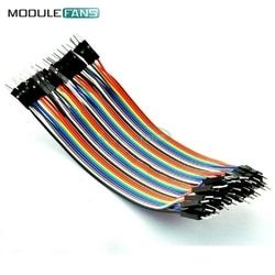40PCS 10CM 2.54MM Row Male to Male Dupont Cable Breadboard Jumper Wire For arduino