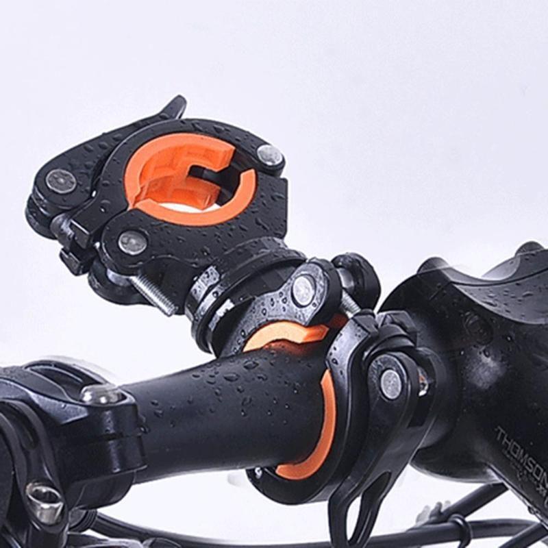 MTB Rennrad Rack 360 Grad Rotation Universal Fahrrad Scheinwerfer Taschenlampe Halter Rack Radfahren Halterung Clip