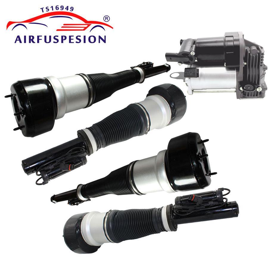4 stücke Für Mercedes W221 Vorne Hinten Suspension Stoßdämpfer Luft Kompressor Air Ride 2213209313 2213205613 2213205513
