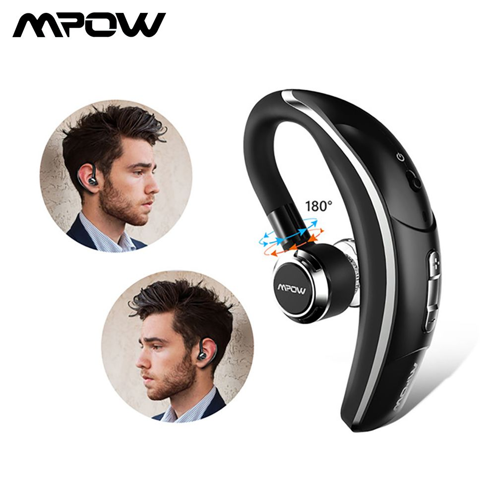 Mpow BH028 Wireless Single Car Headphone Portable Handsfree Bluetooth 180 Rotation Earbuds Earphones With Mic For iOS Android