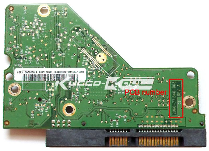HDD PCB circuit board 2060-771640-003 REV A/P1 for WD 3.5 SATA hard drive repair data recovery