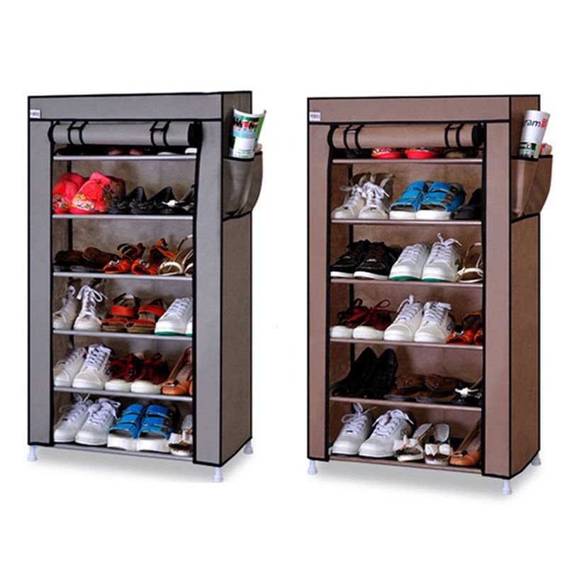 Seven Layers Six Grid Thick Non-woven Simple Shoe Cabinet Dustproof Creative DIY Assembly Storage Shoe Rack Shoe Organizer Shelf