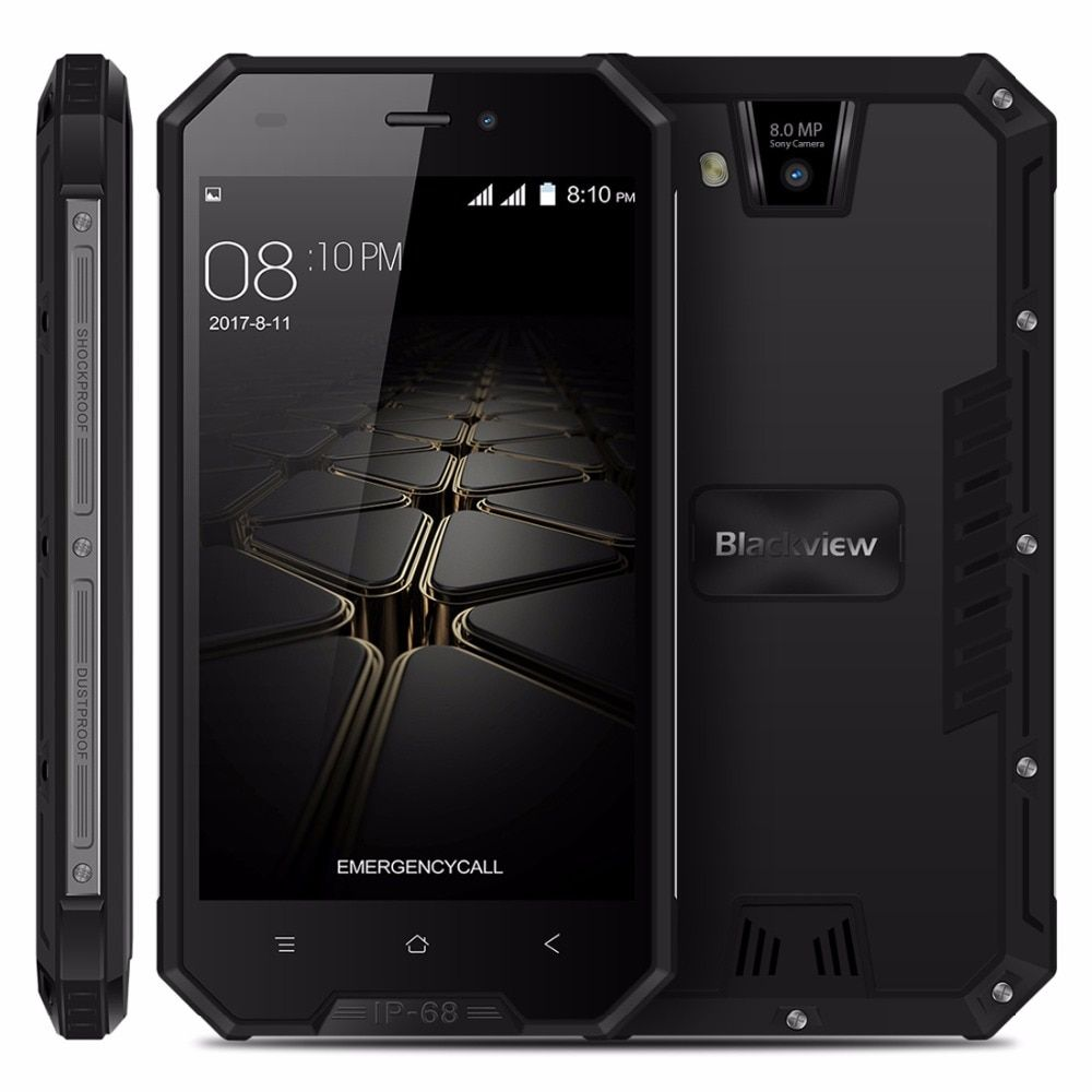 Blackview BV4000 PRO Smartphone <font><b>IP68</b></font> Waterproof MT6580A Quad Core 4.7 Inch Android 7.0 CellPhone 2GB RAM 16GB ROM Mobile Phone
