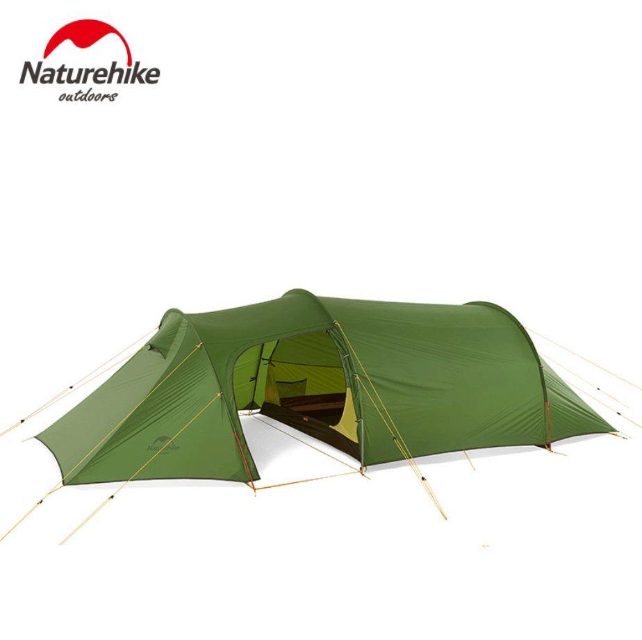 Naturehike ultraleicht Opalus Tunnel doppel Zelt im freien wandern camping 2/3/4 Personen einem schlafzimmer und einem Wohnzimmer zimmer zelt