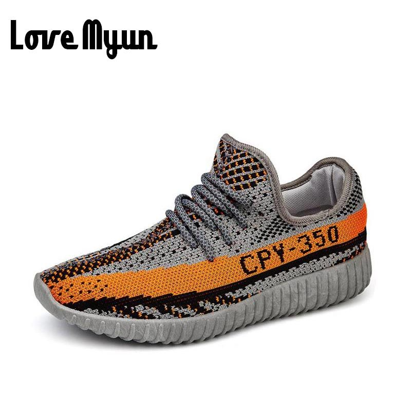 De alta Calidad de Los Hombres Zapatos Ocasionales Respirables de Punto Mosca tejer Zapatos de tela Hombres lujo de la marca de las Zapatillas de deporte zapatos masculinos zapatillas EE-27