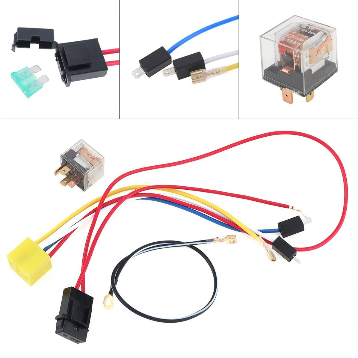 Durable Universal 12V Wires and Relay for Air Horn Car/ Truck / Vehicle