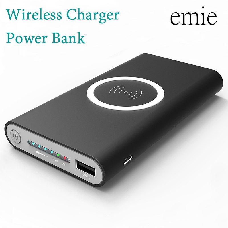 20000 mah Puissance Banque Batterie Externe charge rapide Sans Fil Chargeur Powerbank Portable Mobile téléphone Chargeur pour iPhone 8 8 plus X