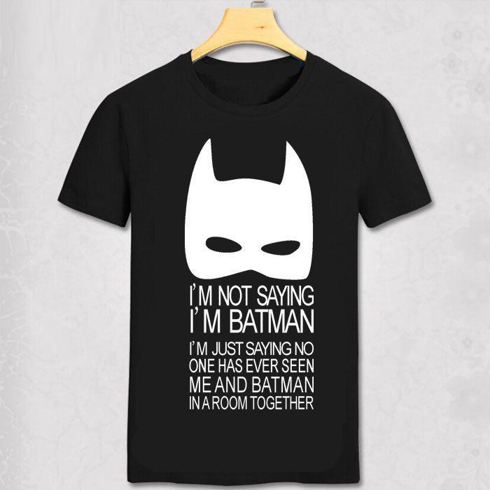 Batman t-shirts mode personnalisé t-shirts batman costume hommes T-shirt batmen haut drôle T-shirt super-héros cool chemise
