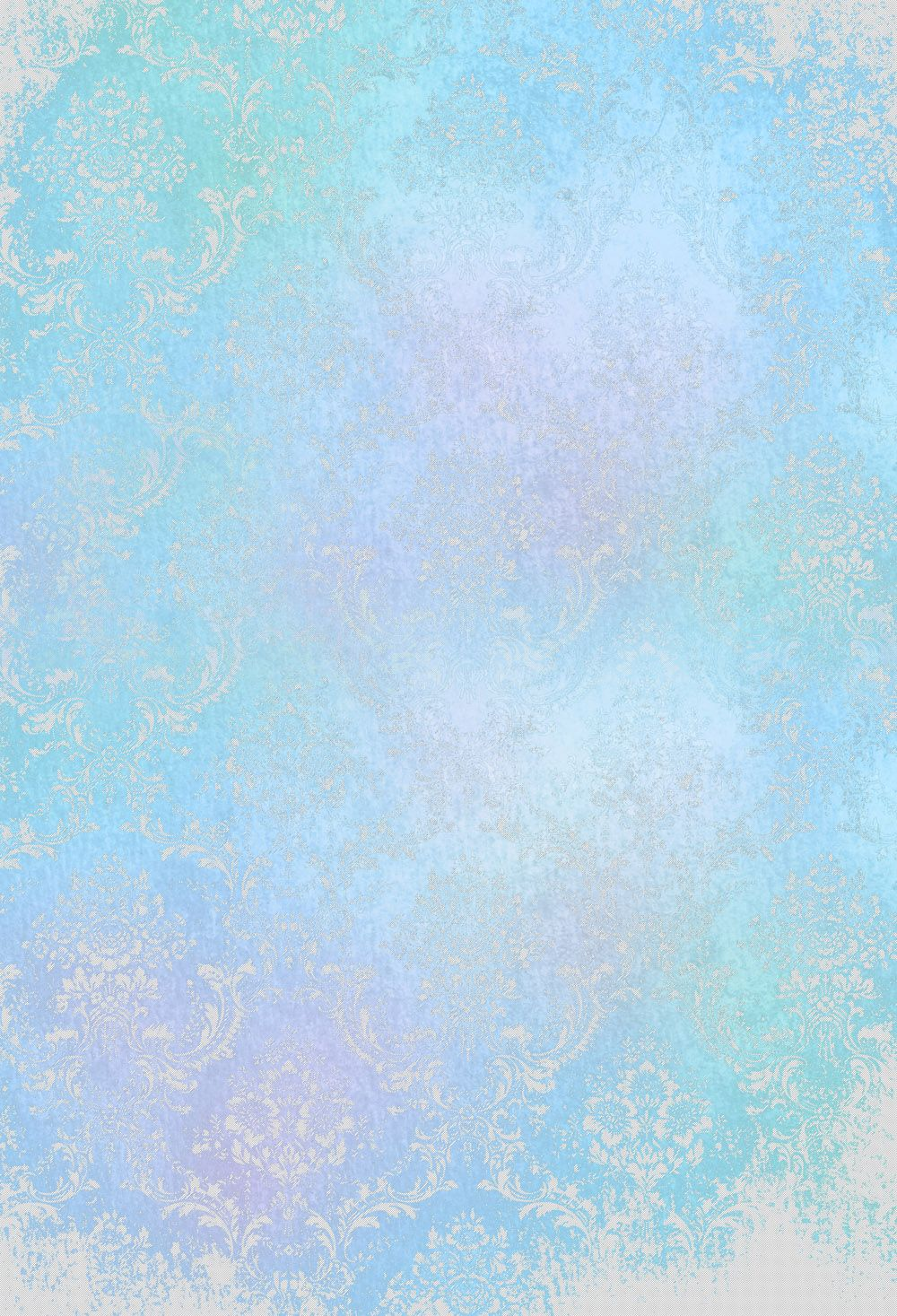 Blue Damask Wall Photography Backgrounds Studio Props Baby Birthday Customize Photo Booth Banner Backdrop XT-6773