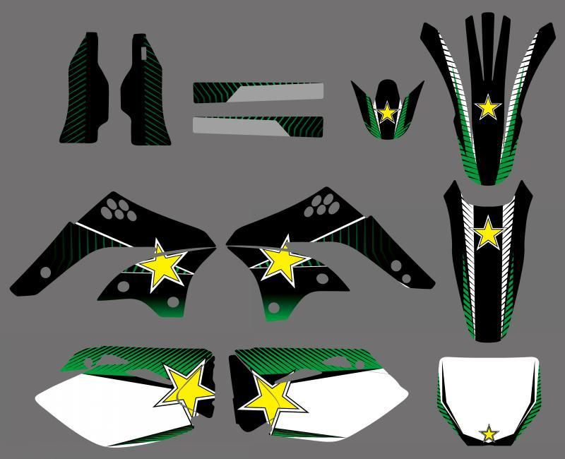 0239 Star New Style TEAM GRAPHICS&BACKGROUNDS DECALS STICKERS Kits  for  KX450F KXF450 2006 2007 2008