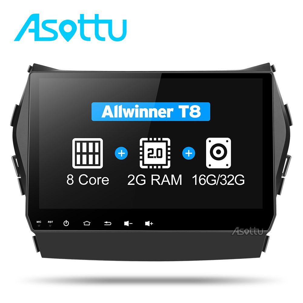 Asottu CIX459060 Android 7.1 T8 Octa Core car dvd gps video radio player 2 din for Hyundai IX45 Santa fe 2013 car navigaton unit