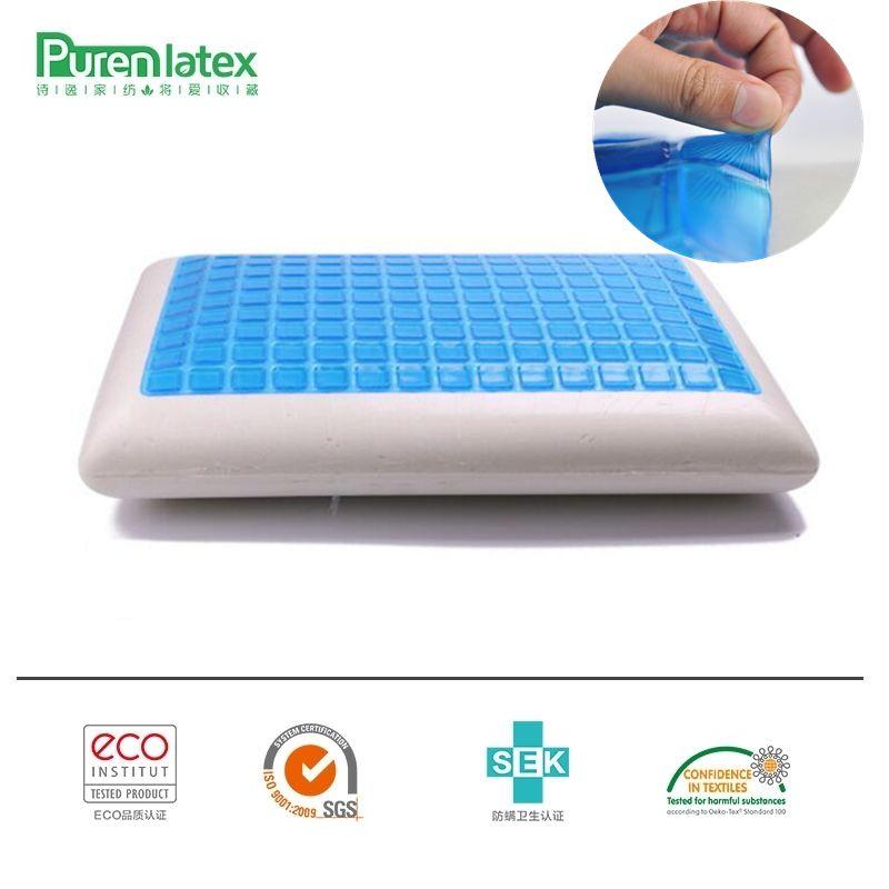 PurenLatex 60*40*12 Silikon Gel Memory-schaum Sommer Kühlen Kissen Spondylose und Ekzeme Verhindert Für Halswirbel Healing