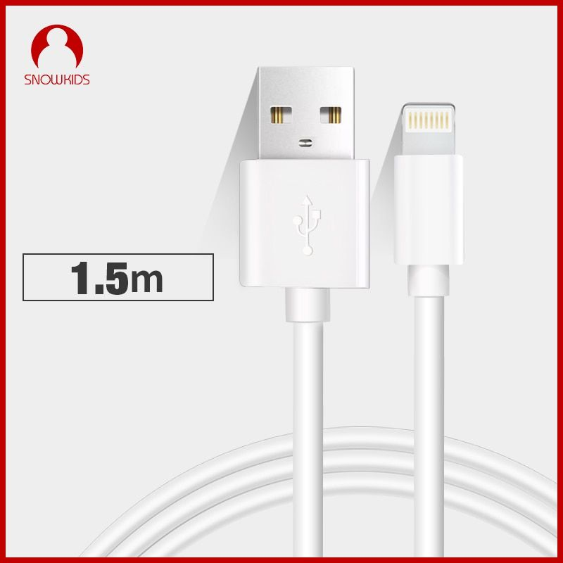 Snowkids 1.5 m 2 m câble usb pour iPhone X 8 7 6 5 XR XsMax Jusqu'à iOS12