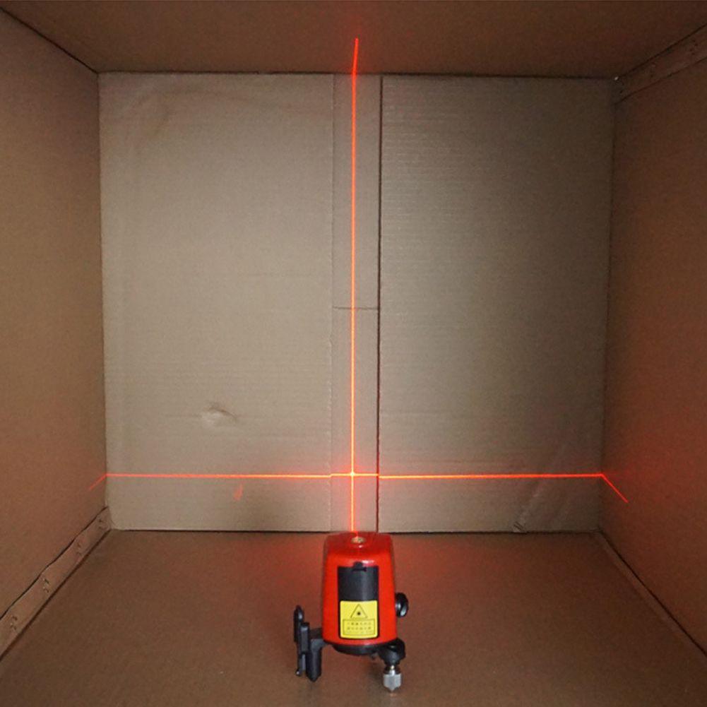 360 градусов Самовыравнивающийся Крест Красный лазерный уровень длина волны 635nm 1V1H красный 2 линия 1 балл Мини Портативный инструмент диагнос...