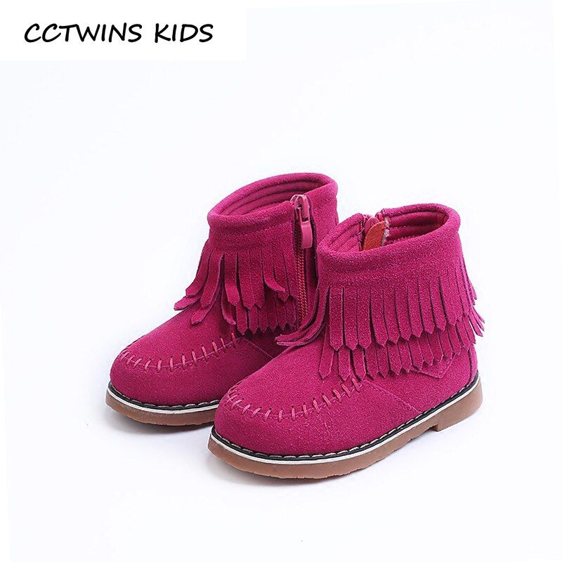 Cctwins дети 2017 малыш бахрома для маленьких девочек модная кисточкой Ботильоны дети бренд Пояса из натуральной кожи коричневого c1174
