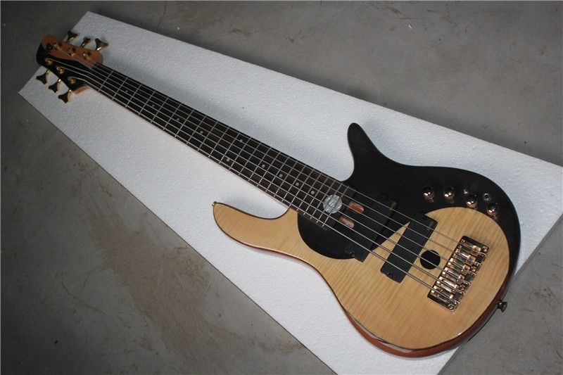 Factory Custom Tai Chi pattern Alder Body 6 strings Deluxe Electric Bass Guitar free shipping 1 2