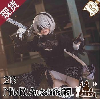 NieR:Automata Game heroine 2B Black Dress cosplay Costume Free Shipping