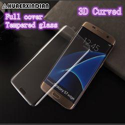 3D Courbe Pleine Couverture Couleur En Verre Trempé pour Samsung Galaxy S6 bord S7 Bord s8 s9 Plus Protecteur D'écran film