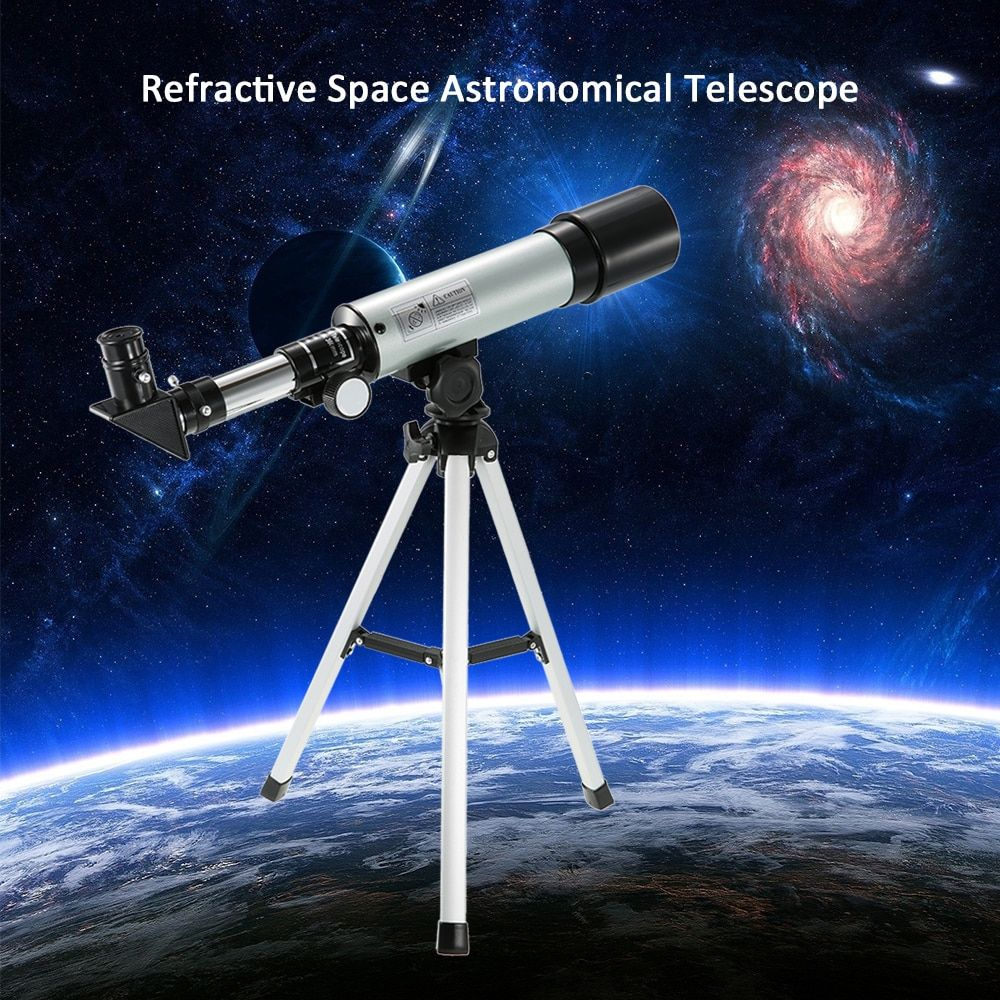 F50360 Outdoor HD 90X Zoom Telescope Monocular 360x50mm Refractive Space Astronomical Telescope Travel Spotting Scope Tripod