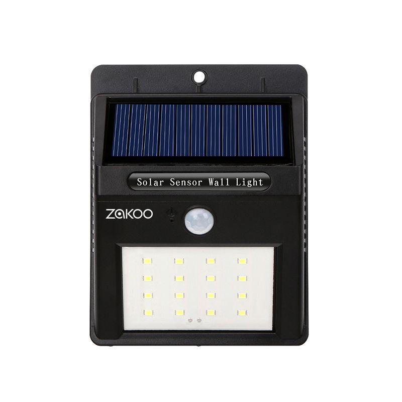 Étanche 16 LED Solaire Lumière Solaire Power Panel PIR Motion Sensor LED Jardin Lumière Voie Extérieure Sens Solaire Lampe Mur lumière