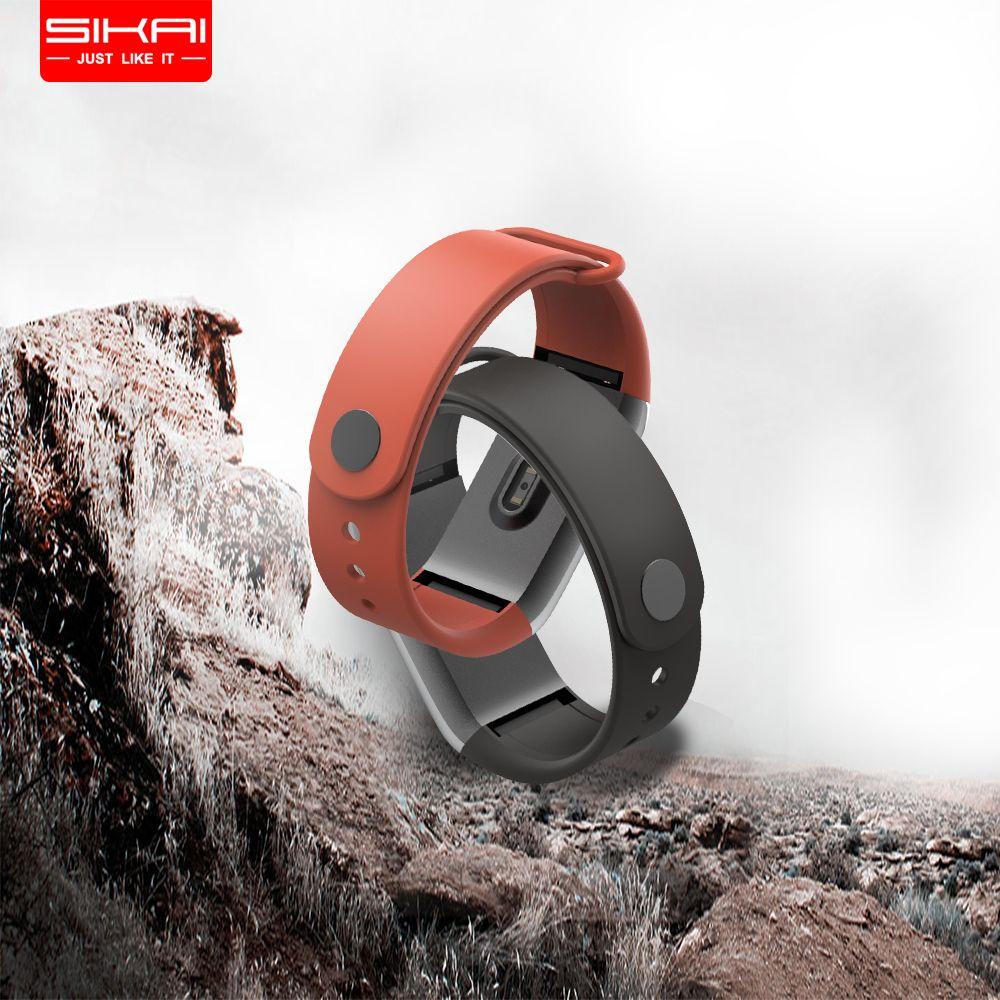 SIKAI montre en silicone Bande Pour Huami Amazfit Cor Remplacement Confortable bracelet coloré bracelet de montre Pour Amazfit Cor Pour Huami Montre