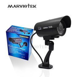 Открытый Поддельные IP Камера Wi-Fi home security видео манекен наблюдения Камера cctv камера видеонаблюдения мини Камера аккумулятор power мигает свето...