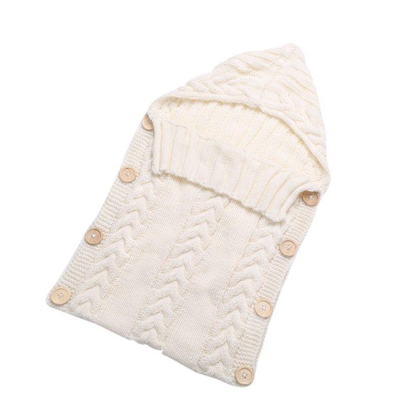 Шерстяная одежда для малышей вязать Одеяло пеленать сна мешок коляска Обёрточная бумага для новорожденных Обёрточная бумага для пеленания...