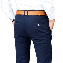 Pantalon décontracté Hommes 2018 Printemps Classique Élastique Robe Slim Fit Stretch Pantalons Longs Affaires Mâle Kaki Pantalon Noir Bleu