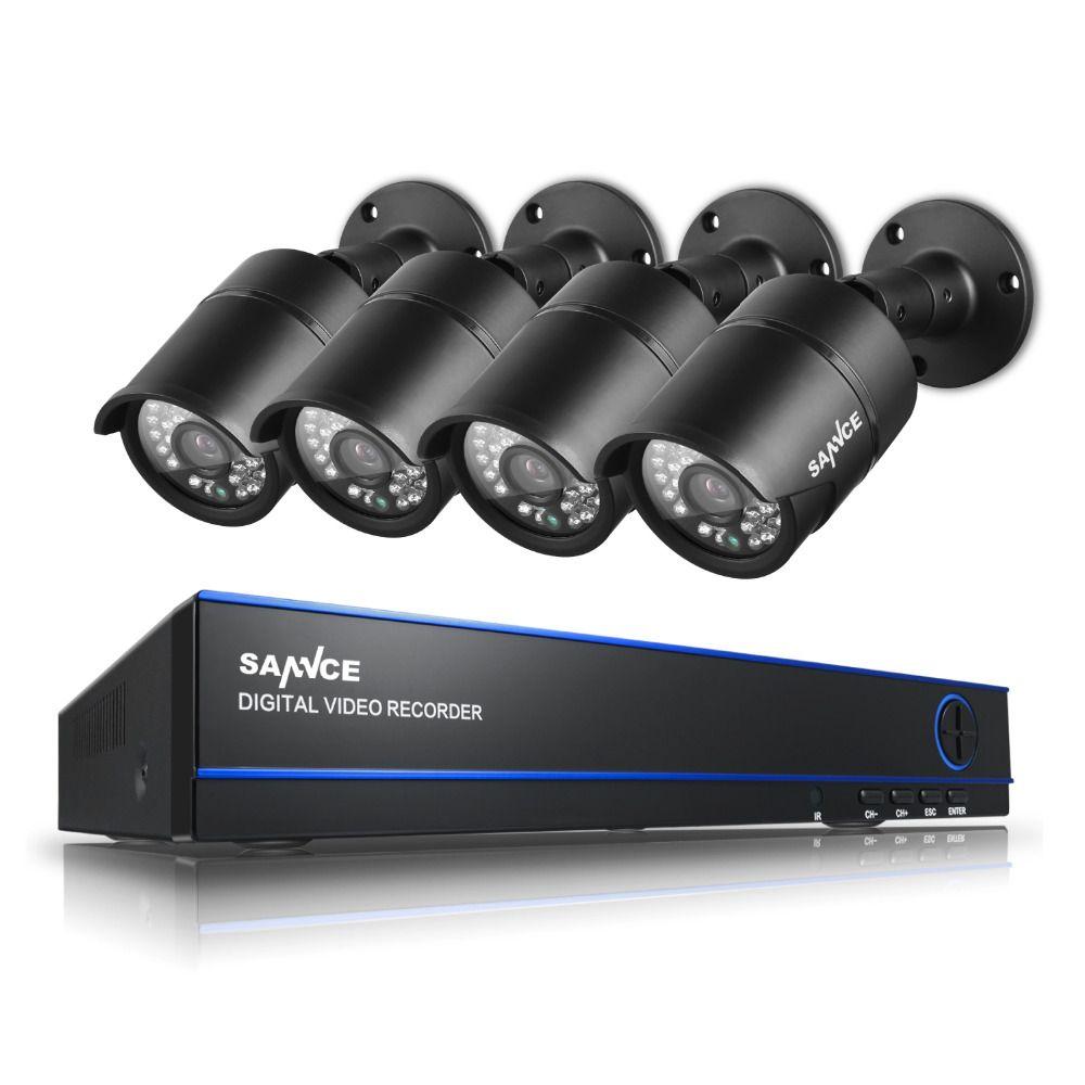 Sannce видеонаблюдения Системы 8ch DVR 4x1080 P камеры 2.0mp ИК День/Ночь Kit 8-канальный Товары теле- и видеонаблюдения наборы Seguridad дома