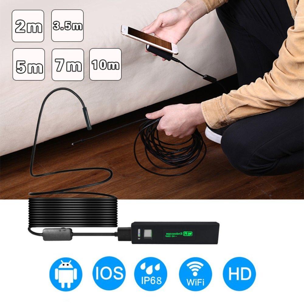Wifi Endoskop Kamera 8mm HD 1200 P Wasserdichte Endoskop Kamera Soft & Harten Draht Wifi Endoscopio Kamera Unterstützung IOS Android Windows
