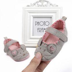 Baru Lahir Bayi Perempuan Sepatu Cute Hewan Putri Anak Anti-Slip Pada Sepatu 0-18 Bulan Balita Crib Hook & Loop Pertama Walkers