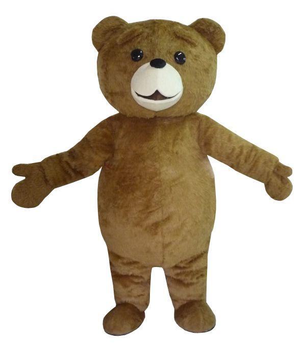 Neue Ted Kostüm Teddybär Maskottchen Kostüm Freies Shpping