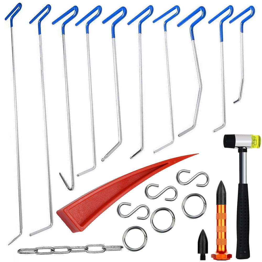 Furuix PDR Rods Hook Tools Paintless Dent Repair Car Dent Removal PDR Tool Kit Hail Hammer dent removal tools
