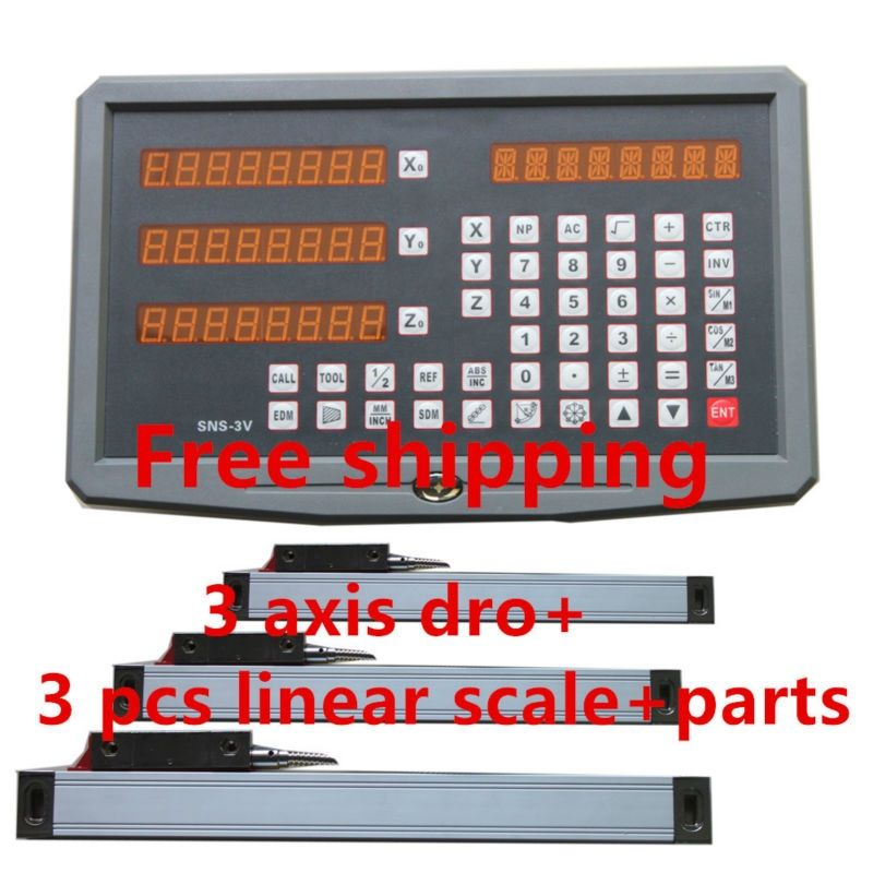 Best price 3 axis Digital Readout with 3 linear scale travel 150-1020mm for milling lathe machine dro display complete unit