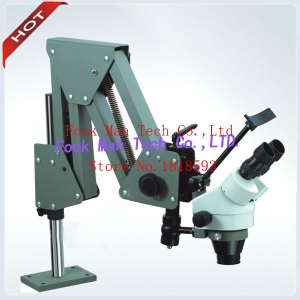 Super Clear Portable Gem Microscope 7X-45X Stereo Zoom Stone Setting Microscope 5W LED Ring Light Free