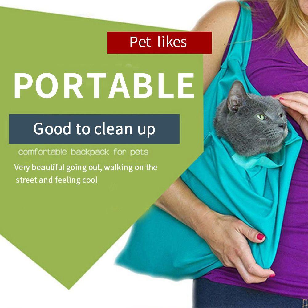 Sac pour animaux de compagnie sacs de chat en plein air sac à dos pour chien sacs de transport pliables portables respirables sac multifonction de confort facile à laver
