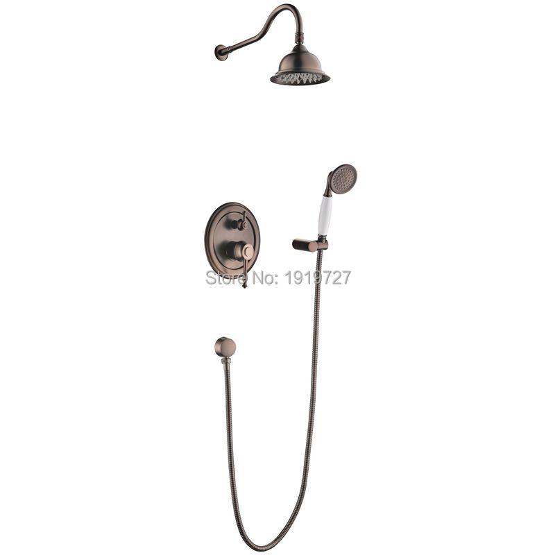 Oil Rubbed Bronze Bath Shower Faucet Set 8