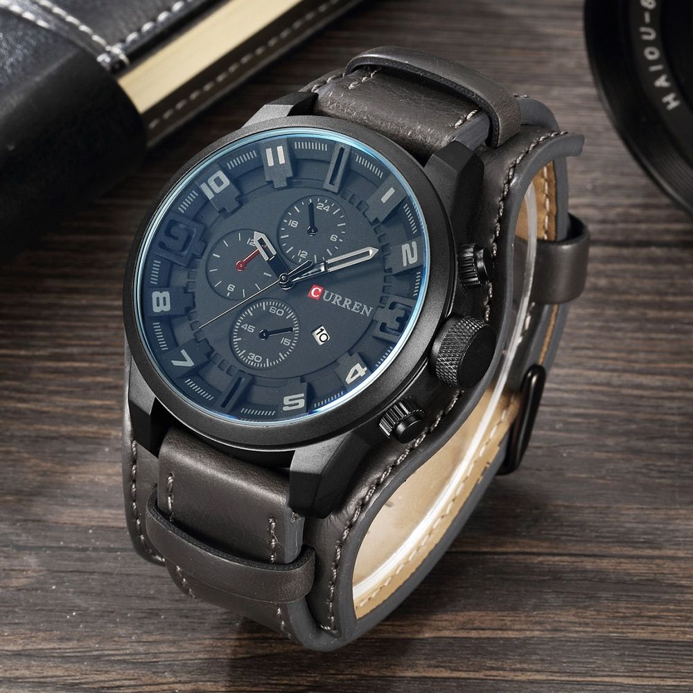 Luxury Top Brand Watch Men Casual Quartz Complete Calendar Analog Men Wristwatch Water Resistant Military Sport Men Simple Clock