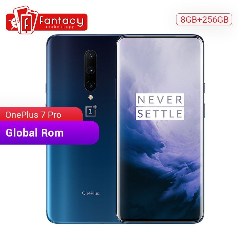 Globale ROM Oneplus 7 Pro 8GB RAM 256GB ROM Smartphone Snapdragon 855 6,67 Zoll 90Hz AMOLED Display fingerprint 48MP Kameras NFC