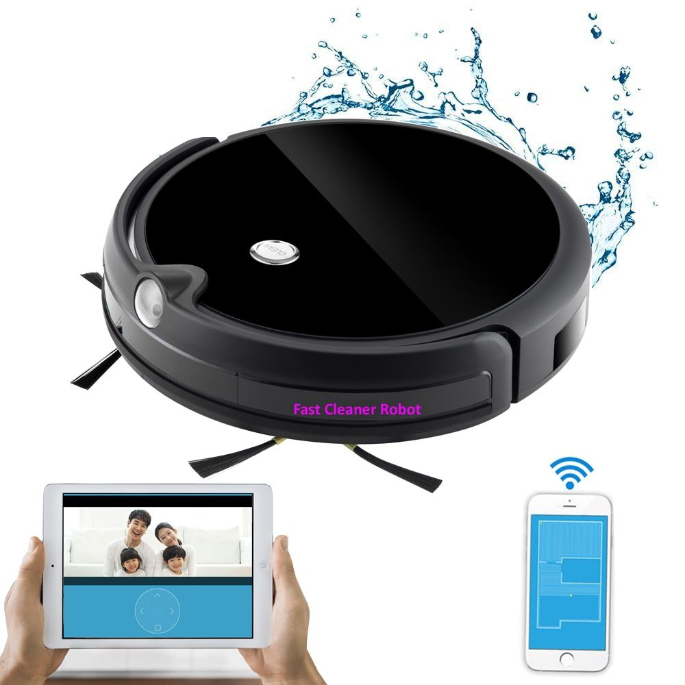 Free Shipping,Free TAX to Korea,Thailand,Singapore,Newest Robot Vacuum Cleaner With Camera, Water Tank,Mapping,Smartphone WIFI