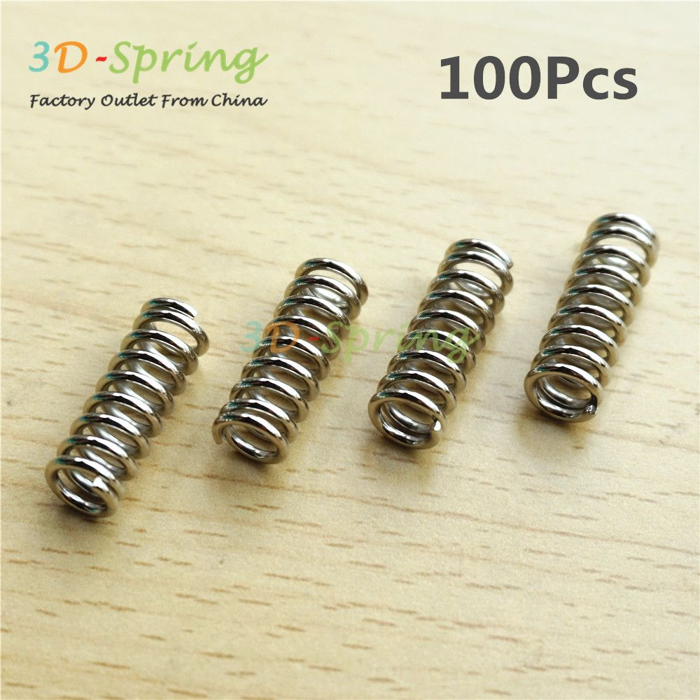 100Pcs High quality Stainless steel Extruder Spring Refinement Edging 1.2*7.5*21.5*8 mm For 3D Printer Accessories