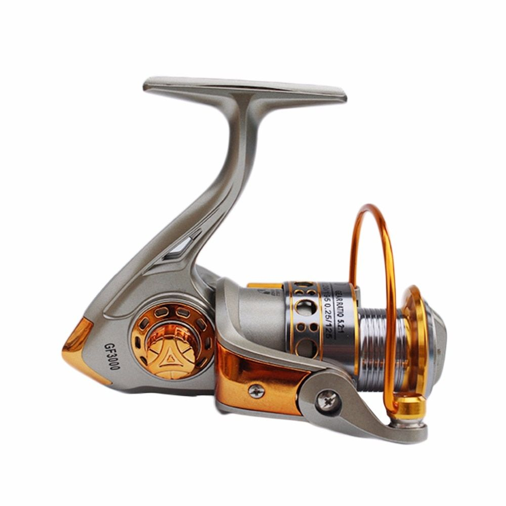 Never Break GF 3BB 5.2:1 Full Aluminum Metal Spinning Boat <font><b>Fishing</b></font> Reel Free Shipping