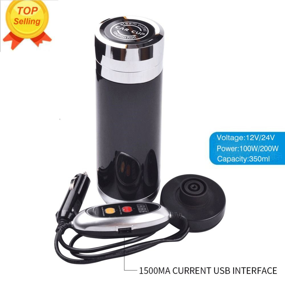 Best Anti-hot Car Kettle Car heating Cup Coffee holder Tea Heated Mug Boiling Water Electric Thermos