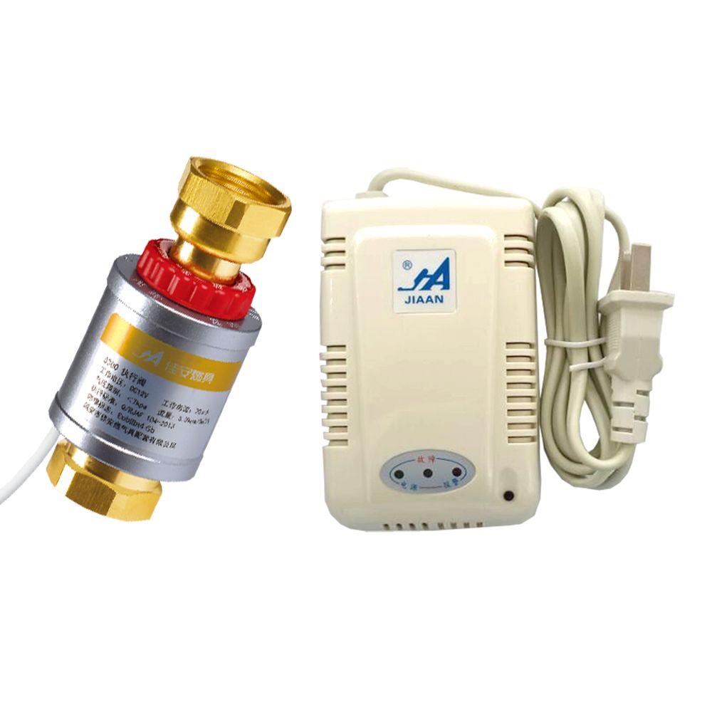 JA8300-B Gas Leak Valve Automatic Battery Cut Off Detector Thermal Cut valve Valvula Descarga Brass Gas Ball Valve