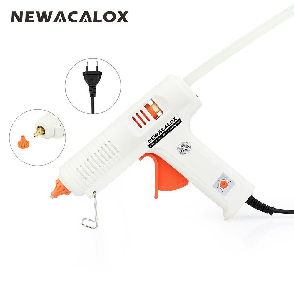 NEWACALOX <font><b>150W</b></font> EU DIY Hot Melt Glue Gun 11mm Adhesive Stick Rod Industrial Electric Silicone Gun Thermo Gluegun Repair Heat Tool