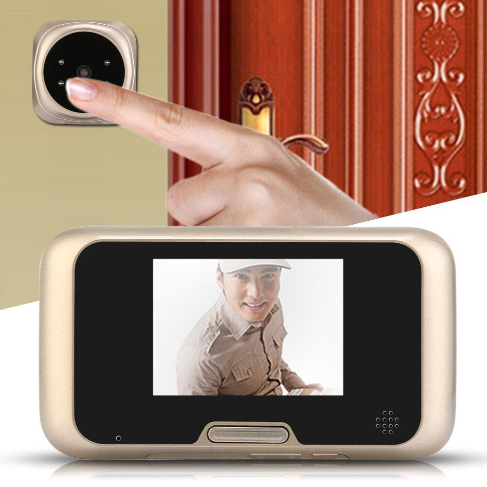 3.2 inch LCD Peephole Viewer Door Security Surveillance Eye Doorbell Color 4 IR LED Camera With Night Vision