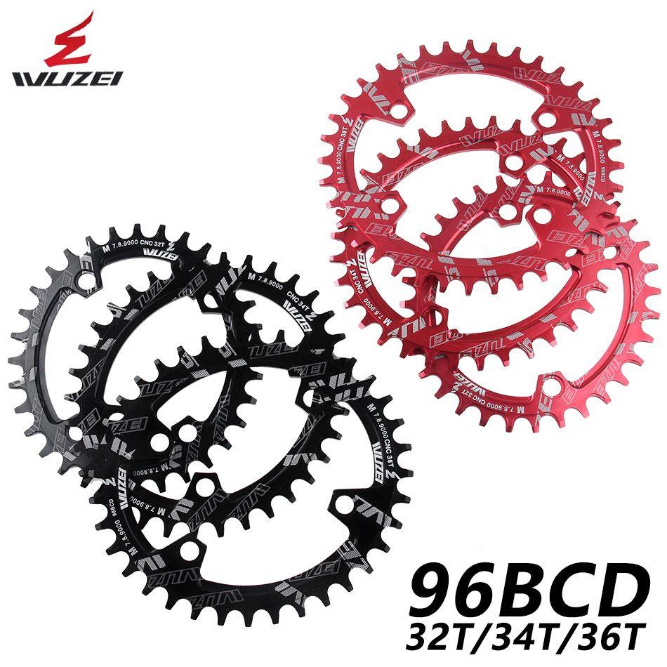 WUZEI BCD 96mm rond/ovale vélo chaîne vtt montagne chaîne roue 32T 34T 36T pour Shimano M7000 M8000 M9000 manivelle